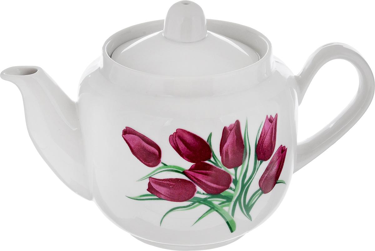 Чайник заварочный Фарфор Вербилок Август. Тюльпаны, 600 мл1730980Заварочный чайник Фарфор Вербилок Август. Тюльпаны изготовлен из высококачественного фарфора. Изделие прекрасно подходит для заваривания вкусного и ароматного чая, а также травяных настоев. Отверстия в основании носика препятствуют попаданию чаинок в чашку. Оригинальный дизайн сделает чайник настоящим украшением стола. Он удобен в использовании и понравится каждому. Диаметр чайника (по верхнему краю): 8,5 см. Высота чайника (без учета крышки): 10 см. Высота чайника (с учетом крышки): 11,5 см.