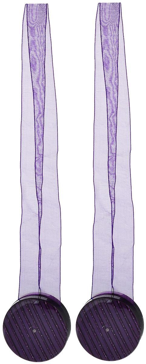 Подхват для штор TexRepublic Ajur. Lenta, на магнитах, цвет: фиолетовый, диаметр 4 см, 2 шт. 7900979009Изящный подхват для штор TexRepublic Ajur. Lenta, выполненный из пластика и текстиля, можно использовать как держатель для штор или для формирования декоративных складок на ткани. С его помощью можно зафиксировать шторы или скрепить их, придать им требуемое положение, сделать симметричные складки. Благодаря магнитам подхват легко надевается и снимается. Подхват для штор является универсальным изделием, которое превосходно подойдет для любых видов штор. Подхваты придадут шторам восхитительный, стильный внешний вид и добавят уют в интерьер помещения. Длина подхвата: 36 см. Диаметр: 4 см. Количество: 2 шт.