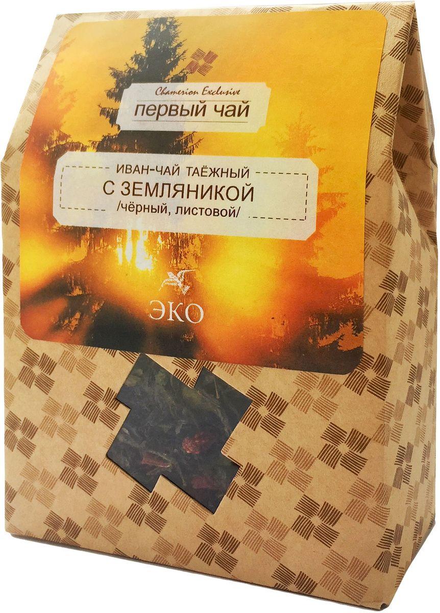 Первый чай Иван-чай листовой таежный с земляникой, 50 г TIVTEA-000001