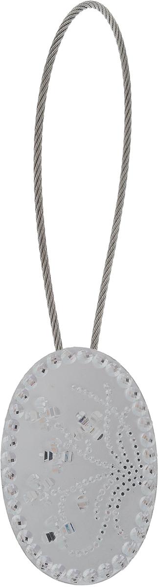 Подхват для штор TexRepublic Ajur. Tross, на магнитах, цвет: серебряный. 7899878998Изящный подхват для штор TexRepublic Ajur. Tross, выполненный из пластика и металла, можно использовать как держатель для штор или для формирования декоративных складок на ткани. С его помощью можно зафиксировать шторы или скрепить их, придать им требуемое положение, сделать симметричные складки. Благодаря магнитам подхват легко надевается и снимается. Подхват для штор является универсальным изделием, которое превосходно подойдет для любых видов штор. Подхваты придадут шторам восхитительный, стильный внешний вид и добавят уют в интерьер помещения. Длина подхвата: 20 см. Диаметр: 3,5 см.