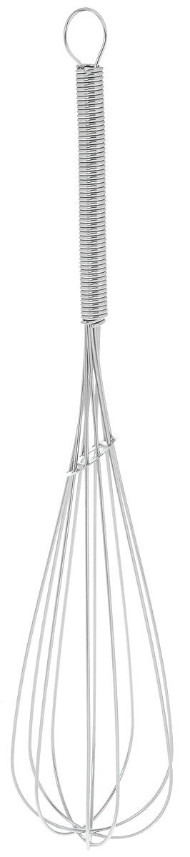 Венчик Top Star, длина 25,5смCM000001326Венчик Top Star, выполненный из высококачественной хромированной стали, отлично подходит для интенсивного взбивания сливок, яиц, теста, кремов и соусов. Удобная ручка делает процесс взбивания легким.Практичный и удобный венчик Top Star займет достойное место среди аксессуаров на вашей кухне.Длина венчика: 25,5 см.Размер рабочей части: 17 х 5,5 см.