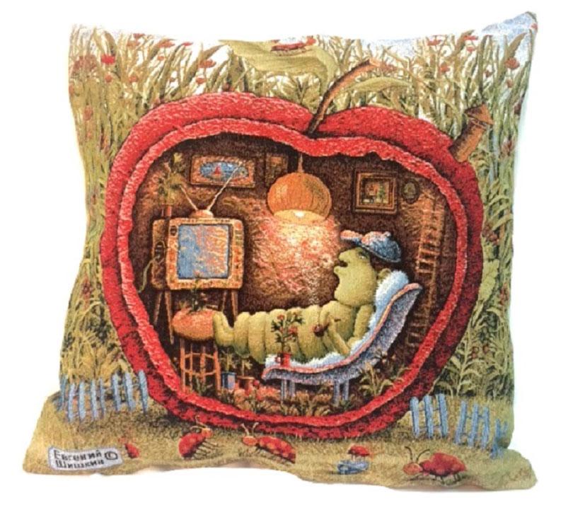 Подушка декоративная Рапира Уютное местечко, 45 х 45 см4401Декоративная подушка с наполнителем холлофайбер со съёмным чехлом на молнии, выполненным из жаккарда, - это яркий штрих в интерьере комнаты. Лицевая сторона - гобелен (жаккардовое ткачество), оборотная сторона - однотонная ткань типа плюш.