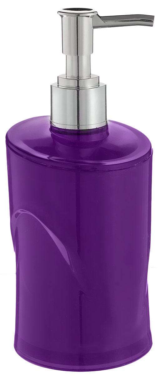 Дозатор для жидкого мыла Indecor, цвет: фиолетовый, серый, 300 мл391602Дозатор для жидкого мыла Indecor, изготовленный из пластика, отлично подойдет для вашей ванной комнаты. Такой аксессуар очень удобен в использовании, достаточно лишь перелить жидкое мыло в дозатор, а когда необходимо использование мыла, легким нажатием выдавить нужное количество. Дозатор для жидкого мыла Indecor создаст особую атмосферу уюта и максимального комфорта в ванной.Размер дозатора: 7 х 7 х 16,5 см.Объем дозатора: 300 мл.