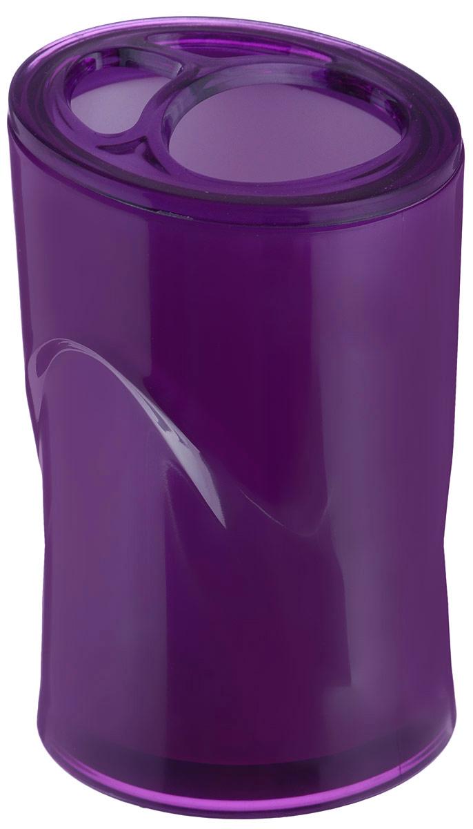 Стакан для зубных щеток Indecor, цвет: фиолетовый, высота 11 смUP210DFОригинальный стакан для зубных щеток Indecor изготовлен из пластика и отлично подойдет для вашей ванной комнаты. Стильный дизайн изделия притягивает взгляд и прекрасно подойдет к интерьеру в ванной комнаты.Размер стакана: 7 х 7 х 11 см.
