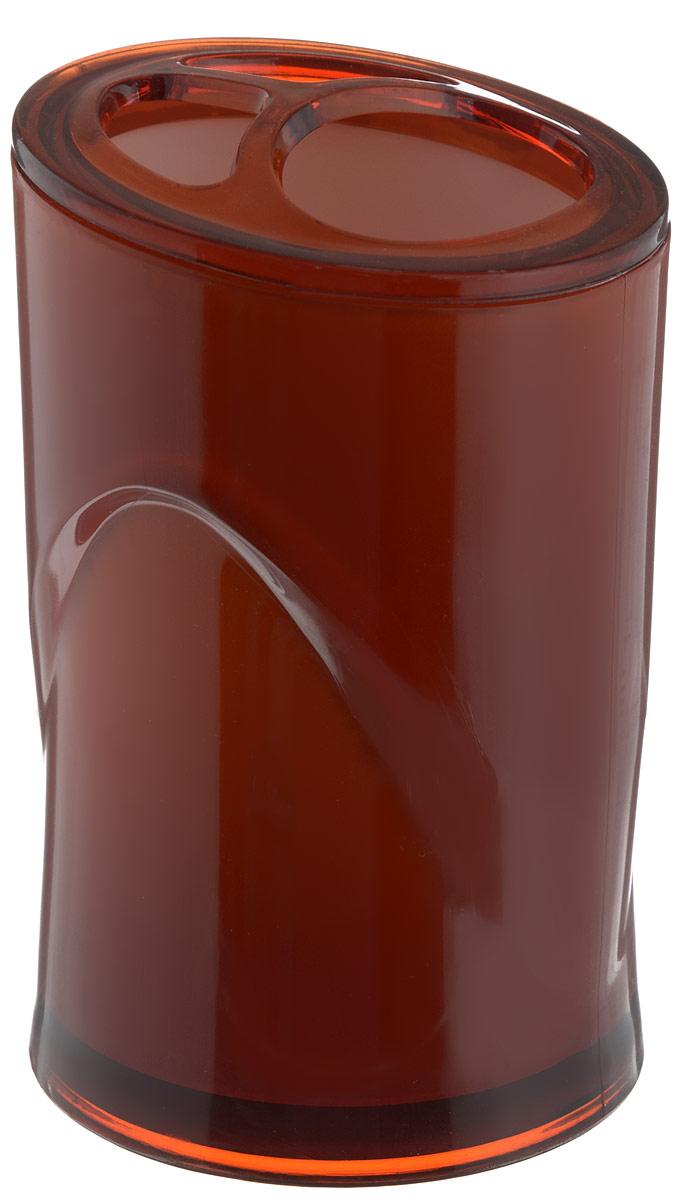 Стакан для зубных щеток Indecor, цвет: коричневый, высота 11 смIND028cОригинальный стакан для зубных щеток Indecor изготовлен из пластика и отлично подойдет для вашей ванной комнаты. Стильный дизайн изделия притягивает взгляд и прекрасно подойдет к интерьеру в ванной комнаты. Размер стакана: 7 х 7 х 11 см.