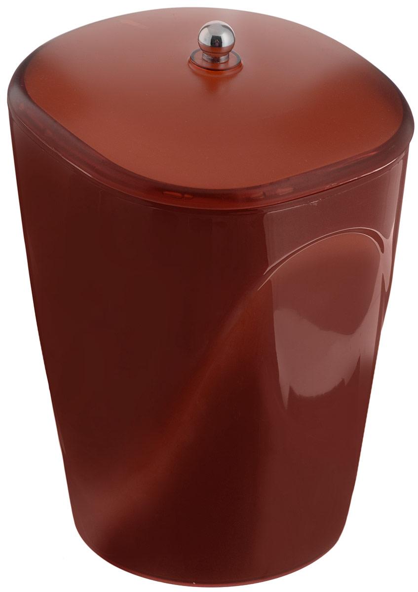 Ведро для мусора Indecor, с крышкой, цвет: коричневый, 5 л10503Глянцевое ведро для мусора Indecor, выполненное из высококачественного износостойкого пластика, оснащено крышкой. Ведро подходит для использования в ванной комнате или на кухне. Стильный дизайн и яркая расцветка прекрасно подойдет для любого интерьера ванной комнаты или кухни. Размер ведра: 20 х 20 х 26,5 см.Объем ведра: 5 л.