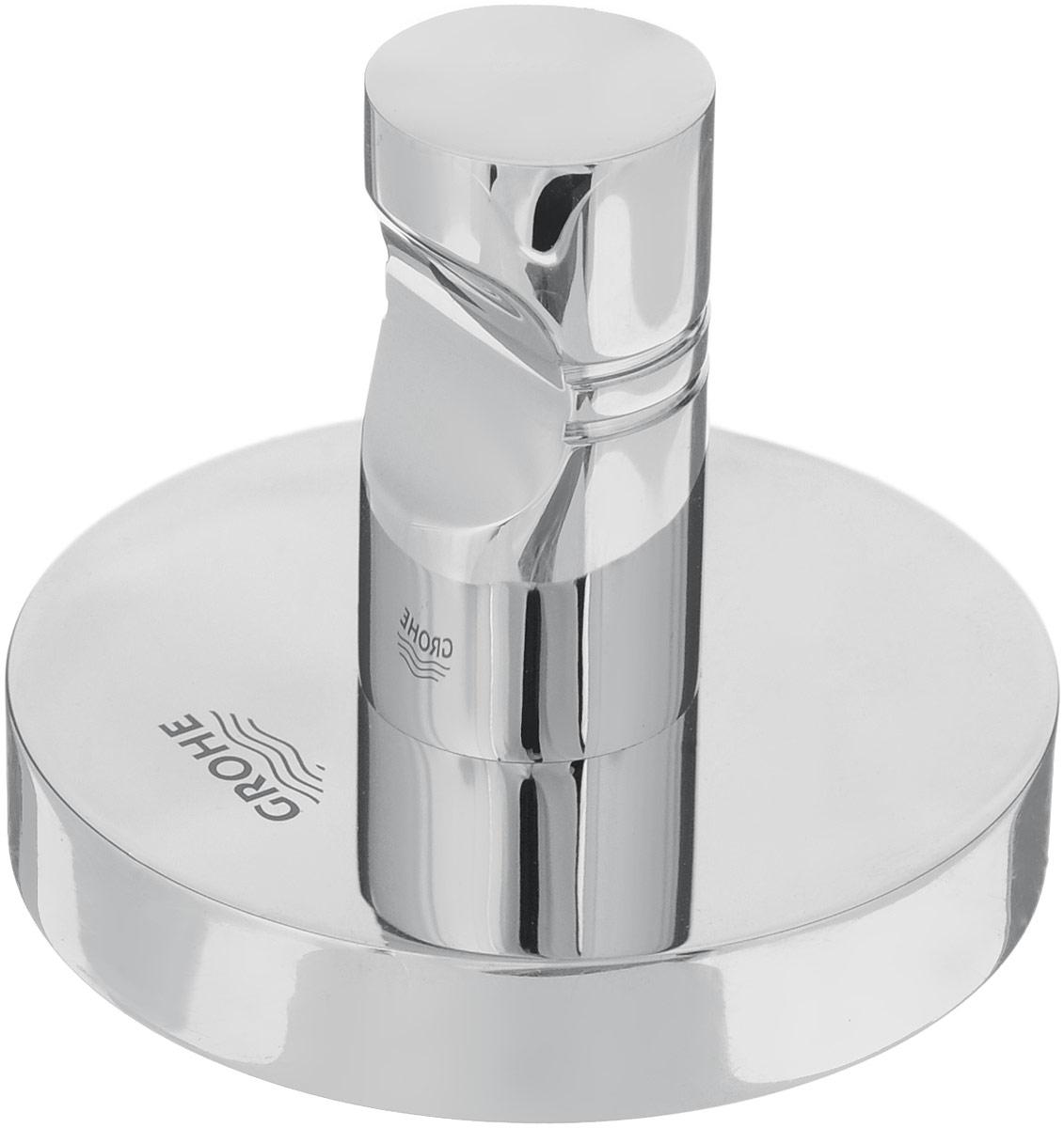 Крючок Grohe Essentials, 5 х 5 х 4,5 см40364001Крючок Grohe Essentials изготовлен из высококачественной латуни. Крючок крепится к поверхности при помощи саморезов. Все необходимое для крепления крючка к стене входит в комплект. Такой крючок прекрасно впишется в интерьер ванной комнаты и поможет эффективно организовать пространство.