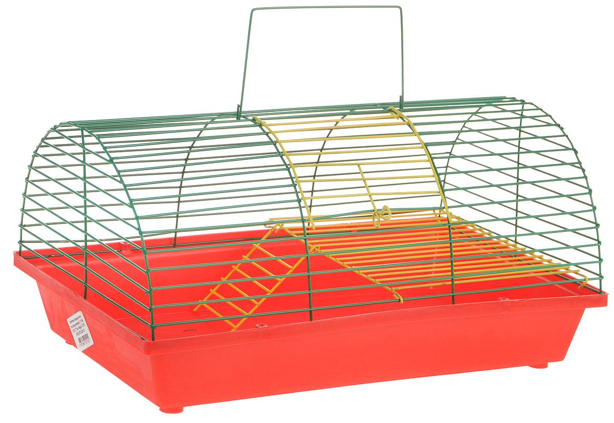 Клетка для грызунов Зоомарк, цвет: красный поддон, зеленая решетка, 36 х 23 х 17,5 см. 110ж(110ж)КЗКлетка Зоомарк, выполненная из полипропилена и металла, подходит для грызунов. Она имеет яркий поддон, удобна в использовании и легко чистится. Клетка оснащена вторым ярусом с лесенкой, выполненных из металла. Клетка Зоомарк станет уединенным личным пространством и уютным домиком для маленького грызуна.
