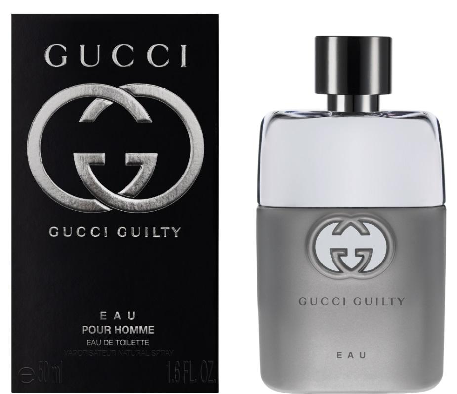 Gucci Guilty Eau Man Туалетная вода 50 мл0730870175903Gucci в конце 2015 выпустил обновленный парфюмерный дуэт Guilty. Мужской Guilty Eau Pour Homme – это фланкер оригинального Guilty Pour Homme 2011 года, версия более легкая, прохладная, игристая. Цитрусовый аромат с пикантными древесно-пряными акцентами открывается сочными и свежими аккордами бергамота с лимоном. Игривые и темпераментные мотивы растворяются в тонком благоухании ириса и апельсинового цвета. Интригующие вкрапления волчих ягод придают парфюму изысканную утонченность, глубину, виртуозно подчеркнутую чувственными гранями пачули и шелковистого мускуса. Соблазнительный и обаятельный аромат – выбор элегантных и уверенных мужчин. Композиция: лимон, бергамот, апельсиновый цвет, волчья ягода, ирис, пачули, мускус.