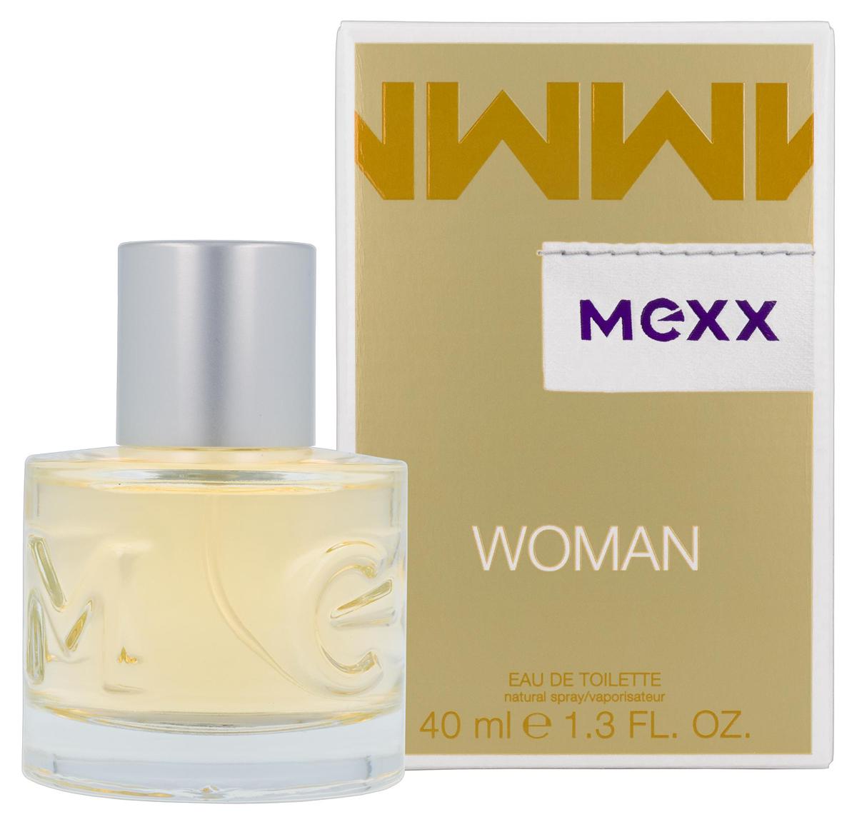Mexx Woman Туалетная вода 40 мл0737052682433Woman - очень женственный и уверенный аромат. Классификация аромата: цветочный, восточный. Пирамида аромата: верхние ноты: бергамот, черная смородина, лимон, ноты сердца: роза, жасмин, ландыш, ноты шлейфа: сандал, кедр, амбра. Верхняя нота: Бергамот, Черная смородина. Средняя нота: Ландыш, Роза, Жасмин. Шлейф: Амбра. Женственная комбинация фруктовых, цветочных и древесных нот. Дневной и вечерний аромат.