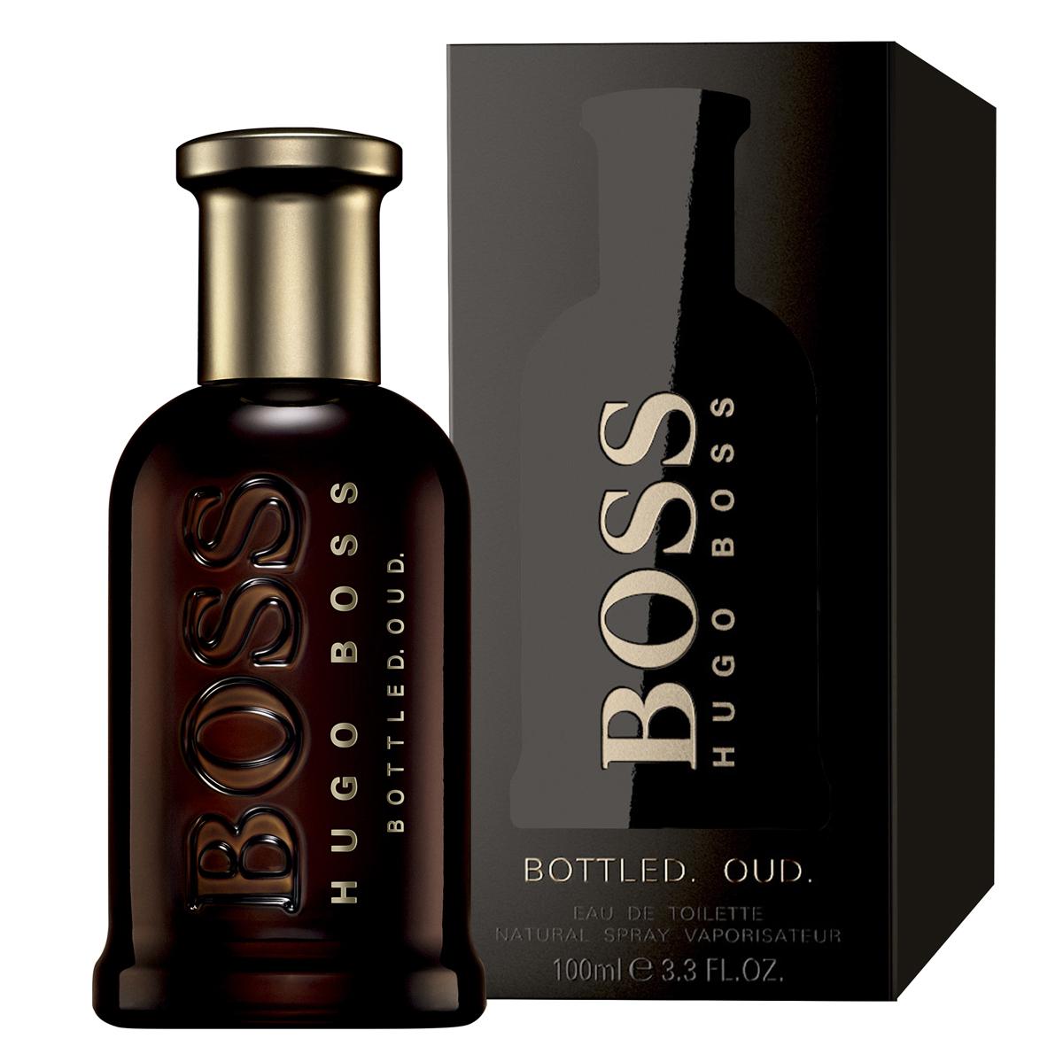 Hugo Boss Bottled Oud Парфюмерная вода мужская 100 млперфорационные unisexBoss Bottled Oud – глубокий, густой, обволакивающий и мистический по своему звучанию мужской восточно-древесный парфюм с бархатистыми пряными акцентами, выпущенный в 2015 году немецким модным брендом Hugo Boss. Аромат является своеобразным подарком всем любителем аромата уда. Считающийся священным на Востоке, уд последнее время начал свое победное шествие и в западной парфюмерии. Однако очень густой, дымно-сладкий аромат, столь популярный на Востоке непривычен для европейцев. Поэтому парфюмерам приходится облегчать его с помощью других ароматических ингредиентов, заставляя звучать более легко и непринужденно, как это принято в европейских парфюмерных традициях. Таким вот ароматом, стоящим одновременно на восточных и европейских традициях, и стал новый парфюм от Хьюго Босс. В нем сладковато-дымный, пряный уд буквально растворяется в бархатистых нотах корицы и горьковато-пряном шафране, будучи дополненным тонким древесно-сливочным аромата светлой древесины.