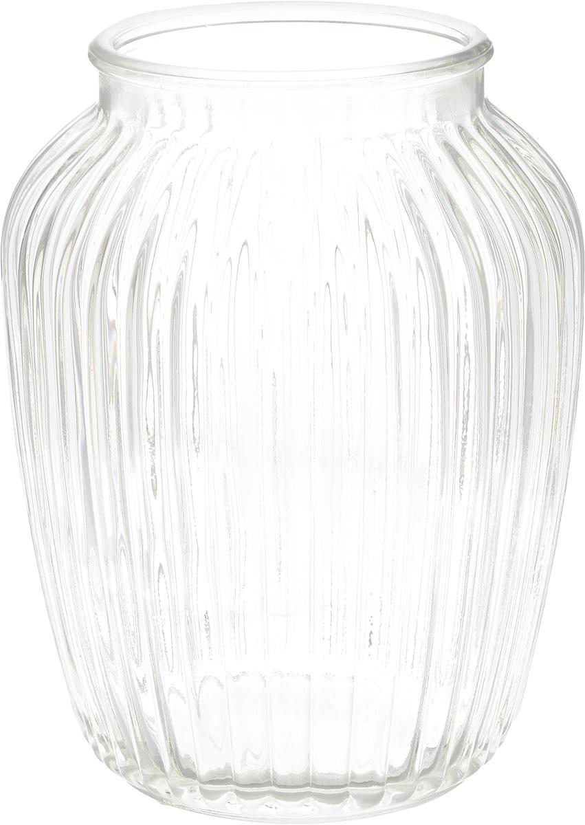 Ваза Nina Glass Луана, цвет: прозрачный, высота 19,5 смNG92-021M_прозрачныйВаза Nina Glass Луана выполнена из высококачественного натрий-кальций-силикатного стекла. Изделие имеет изысканный внешний вид и рельефную поверхность. Такая ваза станет ярким украшением интерьера и прекрасным подарком к любому случаю. Не рекомендуется использовать в СВЧ и мыть в посудомоечной машине. Диаметр вазы (по верхнему краю): 10 см. Высота вазы: 19,5 см. Посуду нельзя использовать в СВЧ и мыть в ПММ.