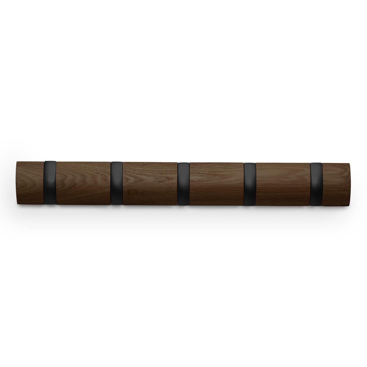Вешалка Umbra Flip, настенная, цвет: бежевый, 5 крючков318850-048Стильная и прочная вешалка интересной формы. Имеет 5 откидных алюминиевых крючков. Когда они не используются, то складываются внутрь, превращая конструкцию в абсолютно гладкую поверхность. Идеально для маленьких прихожих и ограниченных пространств. Каждый крючок выдерживает вес до 2,3 кг.
