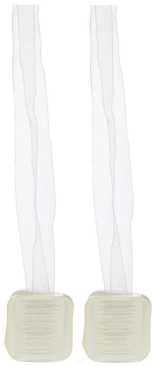 Подхват для штор TexRepublic Ajur. Lenta, на магнитах, цвет: слоновая кость, 2 шт. 7901479014Изящный подхват для штор TexRepublic Ajur. Lenta, выполненный из пластика и текстиля, можно использовать как держатель для штор или для формирования декоративных складок на ткани. С его помощью можно зафиксировать шторы или скрепить их, придать им требуемое положение, сделать симметричные складки. Благодаря магнитам подхват легко надевается и снимается. Подхват для штор является универсальным изделием, которое превосходно подойдет для любых видов штор. Подхваты придадут шторам восхитительный, стильный внешний вид и добавят уют в интерьер помещения. Длина подхвата: 37 см. Количество: 2 шт.