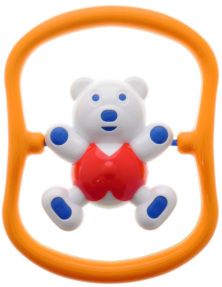 Аэлита Погремушка Мишка-баюн цвет красный оранжевый белый