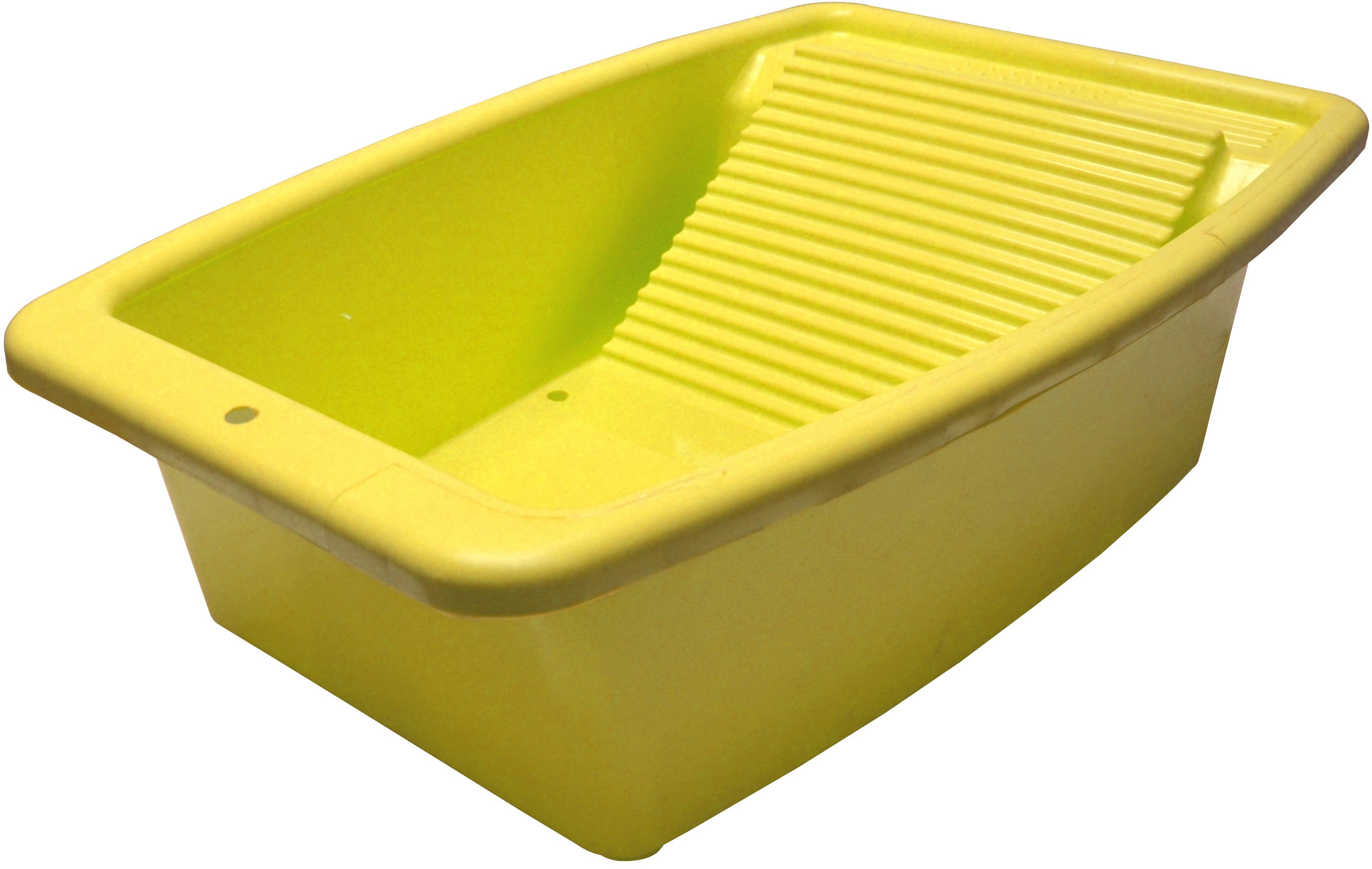 Таз со стиральной доской Коллекция, цвет: желтый, 34 лATP-42/1Таз со стиральной доской