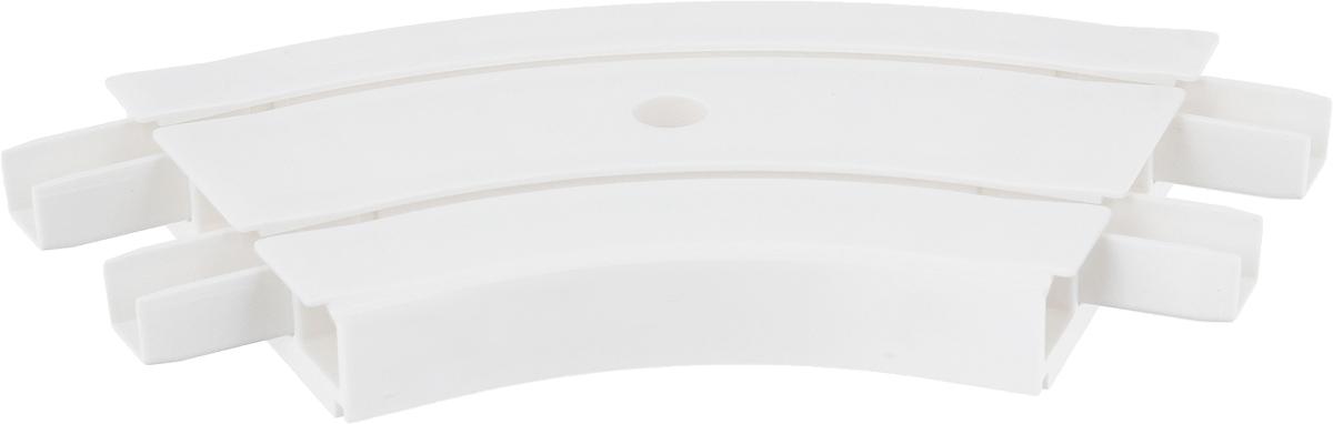 Закругление для потолочной шины Эскар, внутреннее, двухрядное, 135°21352Внутреннее закругление Эскар является дополнительным элементом карниза, которое служит для создания поворота потолочного профиля на 135°. Изделие обеспечивает удобство в использовании всей конструкции карниза. Оно изготавливается из высокопрочного и экологически безопасного пластика. Качественное сырье гарантирует прочность профиля и неизменный цвет на протяжении многих лет. Закругление имеет два ряда и предназначено для потолочного шинного карниза. Ширина закругления: 7,8 см. Высота закругления: 1,7 см.