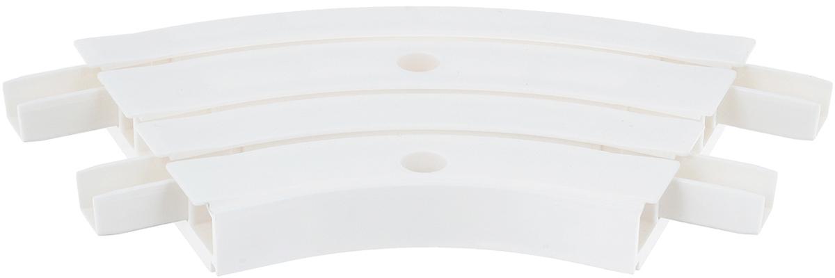 Закругление для потолочной шины Эскар, внутреннее, трехрядное, 135°21353Внутреннее закругление Эскар является дополнительным элементом карниза, которое служит для создания поворота потолочного профиля на 135°. Изделие обеспечивает удобство в использовании всей конструкции карниза. Оно изготавливается из высокопрочного и экологически безопасного пластика. Качественное сырье гарантирует прочность профиля и неизменный цвет на протяжении многих лет. Закругление имеет три ряда и предназначено для потолочного шинного карниза. Ширина закругления: 8,8 см. Высота закругления: 1,7 см.