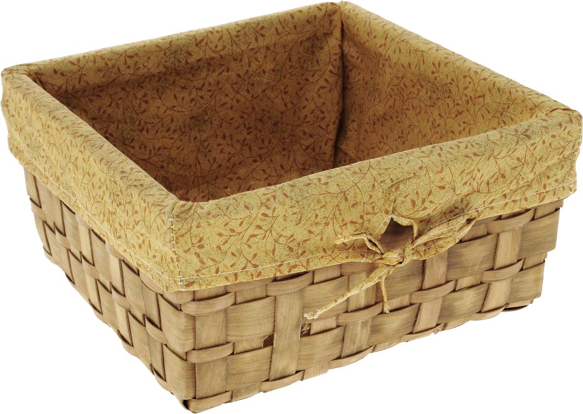 Корзина плетеная Miolla, 30 х 30 х 16 см. QL400339-LQL400339-L_желтыйЛучшее решение для хранения вещей - корзина для хранения Miolla. Экономьте полезное пространство своего дома, уберите ненужные вещи в удобную корзину и используйте ее для хранения дорогих сердцу вещей, которые нужно сберечь в целости и сохранности. Корзина изготовлена из дерева. Специальные отверстия на стенках создают идеальные условия для проветривания. Размер корзины: 30 х 30 х 16 см.
