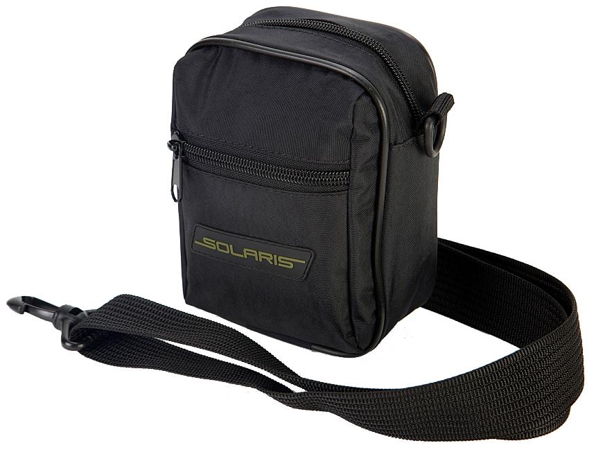 Сумка на ремень Solaris, с портупеей, цвет: черныйMM-610-3/4Универсальная поясная сумка Solaris выполнена из высококачественной армированной непромокаемой ткани с плечевой лямкой-портупеей, удобна для автомобилистов, туристов и ношения в городе. Может использоваться в двух вариантах ношения: с помощью съемной плечевой лямки или одеваться на поясной ремень - на задней стороне сумки есть две петли. Сумка имеет 3 отделения: основное отделение с внутренним потайным карманом на молнии и накладной карман спереди.Размеры сумки: 13,5 х 75 х 17 см. Петли на задней стороне сумки для поясного ремня шириной до 50 мм.