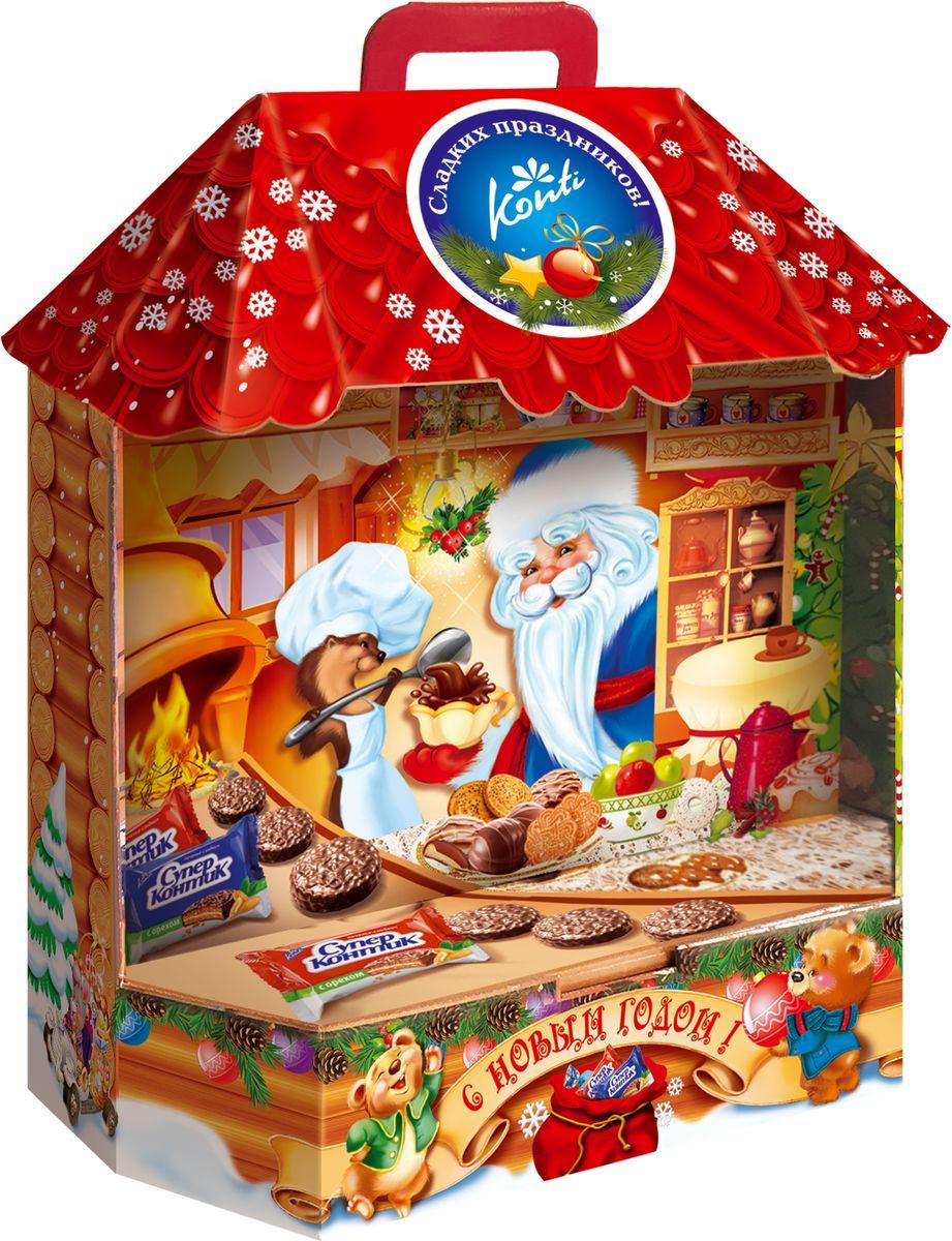 Конти рус Новогодний подарок 2016 Кондитерская Деда Мороза, 1000 г0120710Кто умеет готовить самые вкусные сладости?Конечно же, Дедушка Мороз. А как это происходит, покажет наш подарок.В этом подарке целый килограмм очень вкусных сладостей,а дизайн упаковки приоткроет тайну кондитерской Деда Мороза