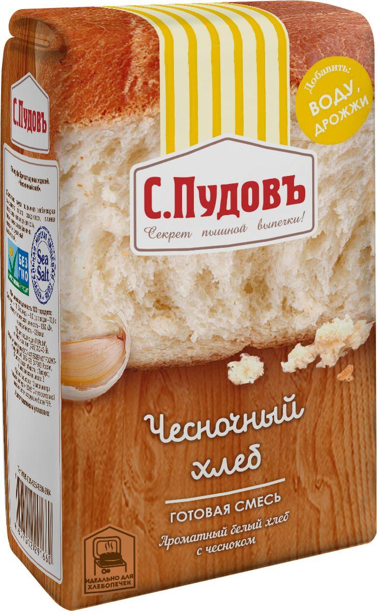 С. Пудовъ Пудовъ чесночный хлеб, 500 г 4607012291660