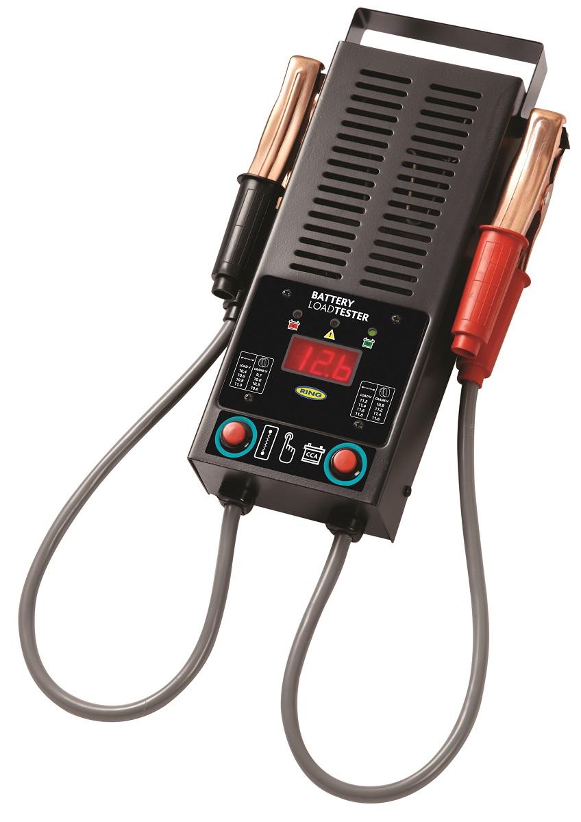 Электронная нагрузочная вилка Ring, цифровой дисплей, 12ВRBA15Прибор предназначен для тестирование аккумулятора, генератора и стартера. Полностью автоматическое тестирование. Совместим с аккумуляторами 12В. Ток под нагрузкой 125 А. Цифровой светодиодный дисплей. Выбираемая емкость аккумулятора. Прочный металлический корпус, аккумуляторные зажимы большой емкости, защита от обратной полярности. Рекомендуемый диапазон аккумулятора 300 - 1000 CCA.