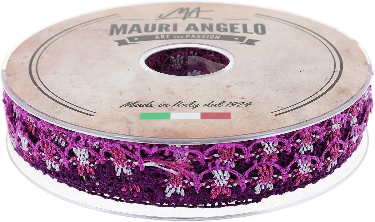 Лента кружевная Mauri Angelo, цвет: фуксия, фиолетовый, сиреневый, 1,8 см х 20 м. MR8849/MC/9MR8849/MC/9Декоративная кружевная лента Mauri Angelo выполнена из высококачественного хлопка и ацетатного волокна. Кружево применяется для отделки одежды, постельного белья, а также в оформлении интерьера, декоративных панно, скатертей, тюлей, покрывал. Главные особенности кружева - воздушность, тонкость, эластичность, узорность. Такая лента станет незаменимым элементом в создании рукотворного шедевра.