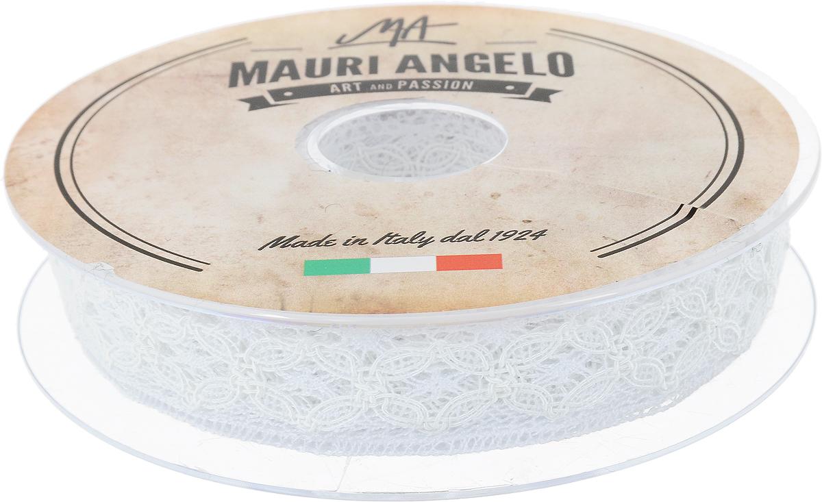 Лента кружевная Mauri Angelo, цвет: белый, 2,3 см х 10 мMR2530/PL/401_белыйДекоративная кружевная лента Mauri Angelo - текстильное изделие без тканой основы, в котором ажурный орнамент и изображения образуются в результате переплетения нитей. Кружево применяется для отделки одежды, белья в виде окаймления или вставок, а также в оформлении интерьера, декоративных панно, скатертей, тюлей, покрывал. Главные особенности кружева - воздушность, тонкость, эластичность, узорность. Декоративная кружевная лента Mauri Angelo станет незаменимым элементом в создании рукотворного шедевра. Ширина: 2,3 см. Длина: 10 м.