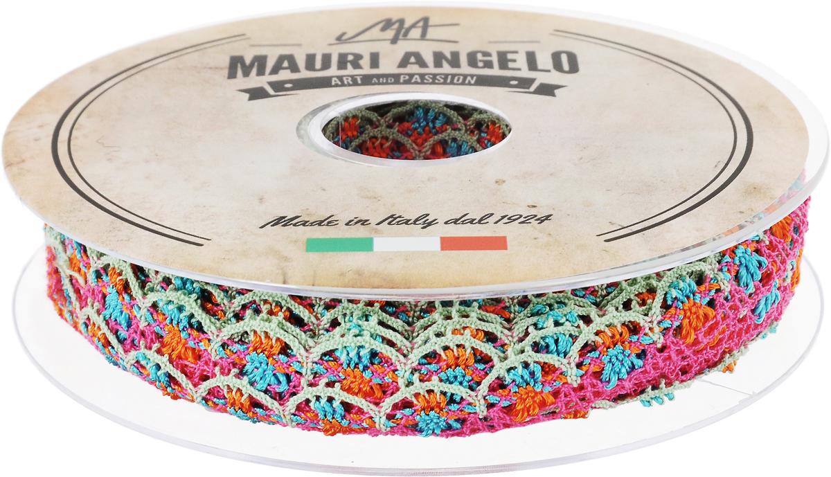 Лента кружевная Mauri Angelo, цвет: розовый, голубой, оранжевый, 1,8 см х 20 м. MR8849/MC/5MR8849/MC/5_розовый, голубой, оранжевыйДекоративная кружевная лента Mauri Angelo - текстильное изделие без тканой основы, в котором ажурный орнамент и изображения образуются в результате переплетения нитей. Кружево применяется для отделки одежды, белья в виде окаймления или вставок, а также в оформлении интерьера, декоративных панно, скатертей, тюлей, покрывал. Главные особенности кружева - воздушность, тонкость, эластичность, узорность. Декоративная кружевная лента Mauri Angelo станет незаменимым элементом в создании рукотворного шедевра. Ширина: 1,8 см. Длина: 20 м.