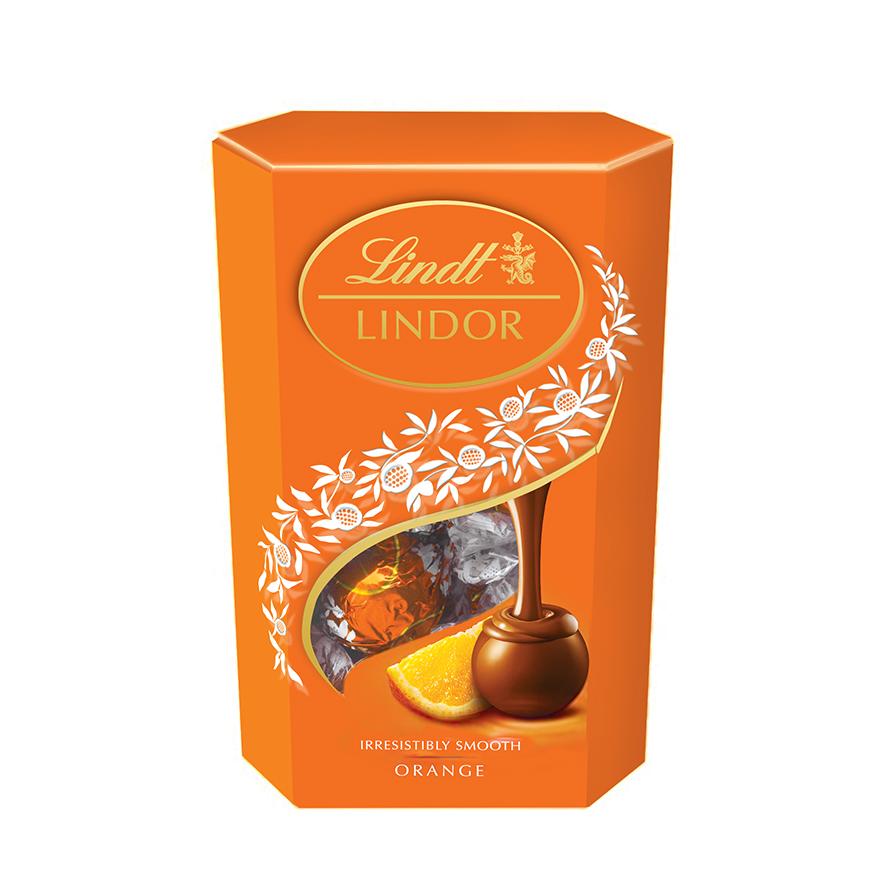 Lindt Lindor шоколадные конфеты апельсин, 200 г0120710Конфеты из молочного шоколада с апельсиновой нежной, тающей начинкой.