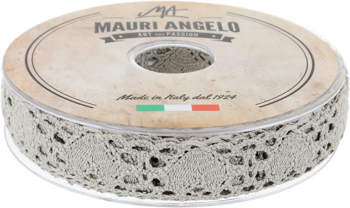 Лента кружевная Mauri Angelo, цвет: серый, 2,7 см х 10 мMR3493/PG_серыйДекоративная кружевная лента Mauri Angelo - текстильное изделие без тканой основы, в котором ажурный орнамент и изображения образуются в результате переплетения нитей. Кружево применяется для отделки одежды, белья в виде окаймления или вставок, а также в оформлении интерьера, декоративных панно, скатертей, тюлей, покрывал. Главные особенности кружева - воздушность, тонкость, эластичность, узорность. Декоративная кружевная лента Mauri Angelo станет незаменимым элементом в создании рукотворного шедевра. Ширина: 2,7 см. Длина: 10 м.
