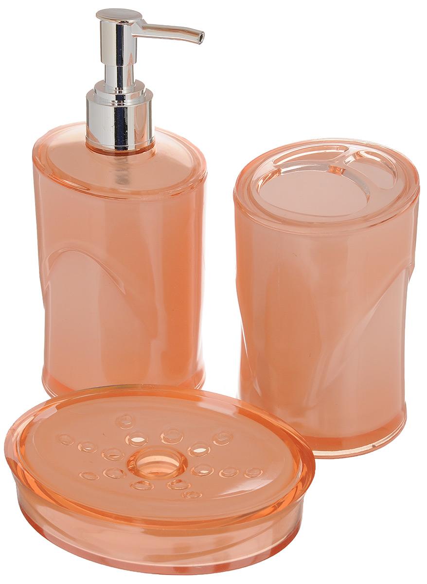 Набор для ванной комнаты Indecor, цвет: бежевый, 3 предмета. IND038IND038bНабор для ванной комнаты Indecor состоит из стакана для зубных щеток, дозатора для жидкого мыла и мыльницы. Стакан, дозатор и мыльница изготовлены из высококачественного пластика. Аксессуары, входящие в набор Indecor, выполняют не только практическую, но и декоративную функцию. Они способны внести в помещение изысканность, сделать пребывание в нем приятным и даже незабываемым. Размер стакана: 7 х 7 х 11 см. Объем стакана: 300 мл. Размер дозатора: 7 х 7 х 17,5 см. Объем дозатора: 300 мл. Размер мыльницы: 11,5 х 9 х 3 см.