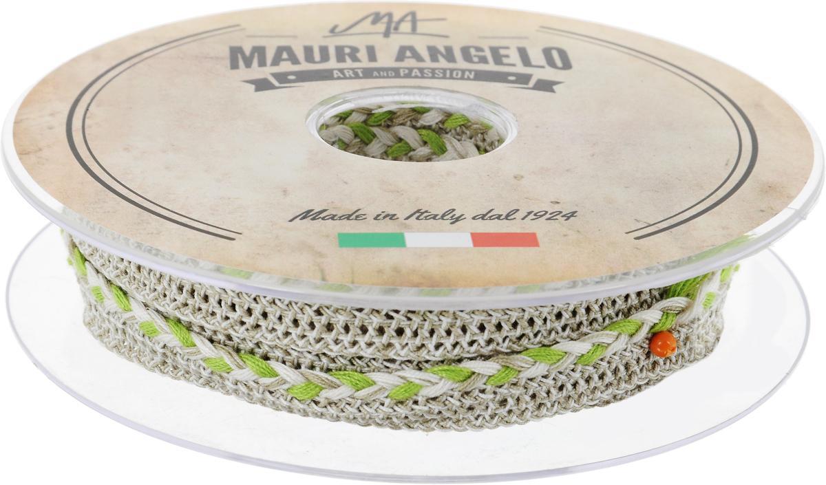 Лента кружевная Mauri Angelo, цвет: серый, салатовый, 1,3 см х 10 мMR8861/10_серый, салатовыйДекоративная кружевная лента Mauri Angelo - текстильное изделие без тканой основы, в котором ажурный орнамент и изображения образуются в результате переплетения нитей. Кружево применяется для отделки одежды, белья в виде окаймления или вставок, а также в оформлении интерьера, декоративных панно, скатертей, тюлей, покрывал. Главные особенности кружева - воздушность, тонкость, эластичность, узорность. Декоративная кружевная лента Mauri Angelo станет незаменимым элементом в создании рукотворного шедевра. Ширина: 1,3 см. Длина: 10 м.