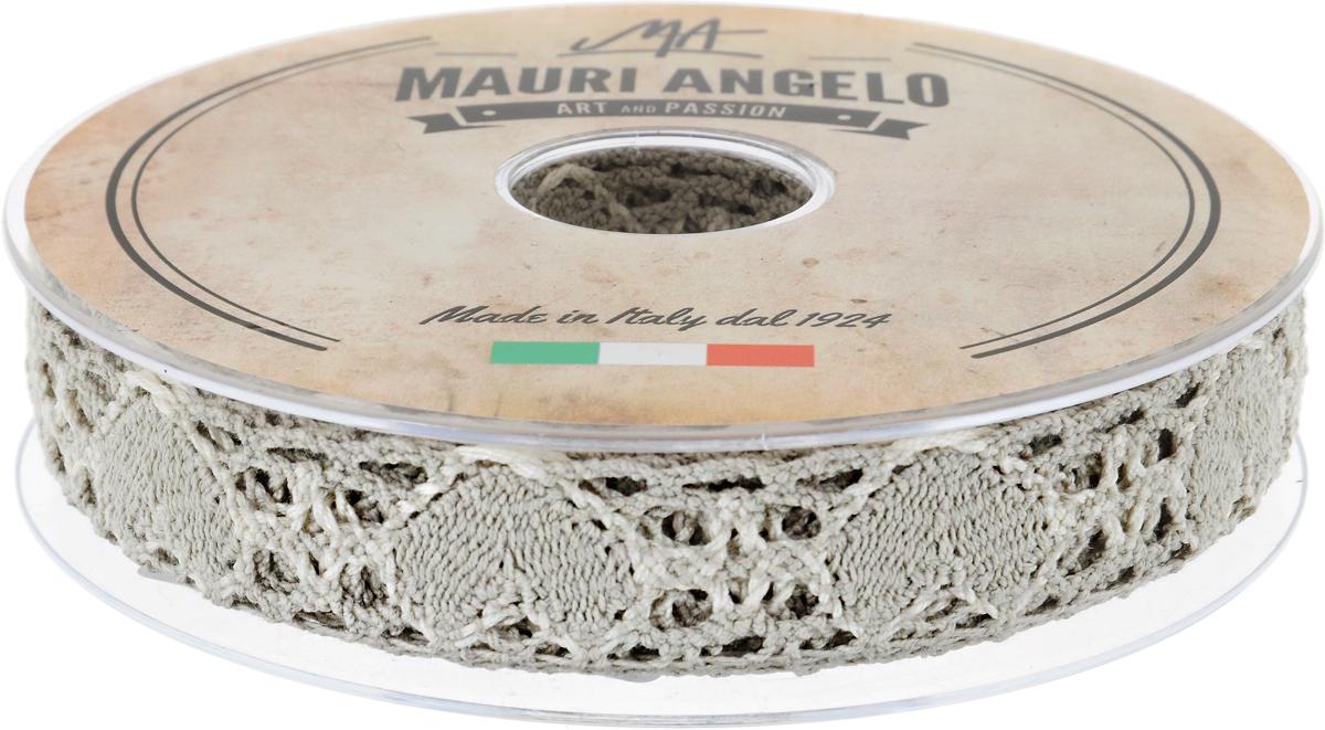 Лента кружевная Mauri Angelo, цвет: серый, белый, 2,7 см х 10 мMR3493/PG/1_серый, белыйДекоративная кружевная лента Mauri Angelo - текстильное изделие без тканой основы, в котором ажурный орнамент и изображения образуются в результате переплетения нитей. Кружево применяется для отделки одежды, белья в виде окаймления или вставок, а также в оформлении интерьера, декоративных панно, скатертей, тюлей, покрывал. Главные особенности кружева - воздушность, тонкость, эластичность, узорность. Декоративная кружевная лента Mauri Angelo станет незаменимым элементом в создании рукотворного шедевра. Ширина: 2,7 см. Длина: 10 м.