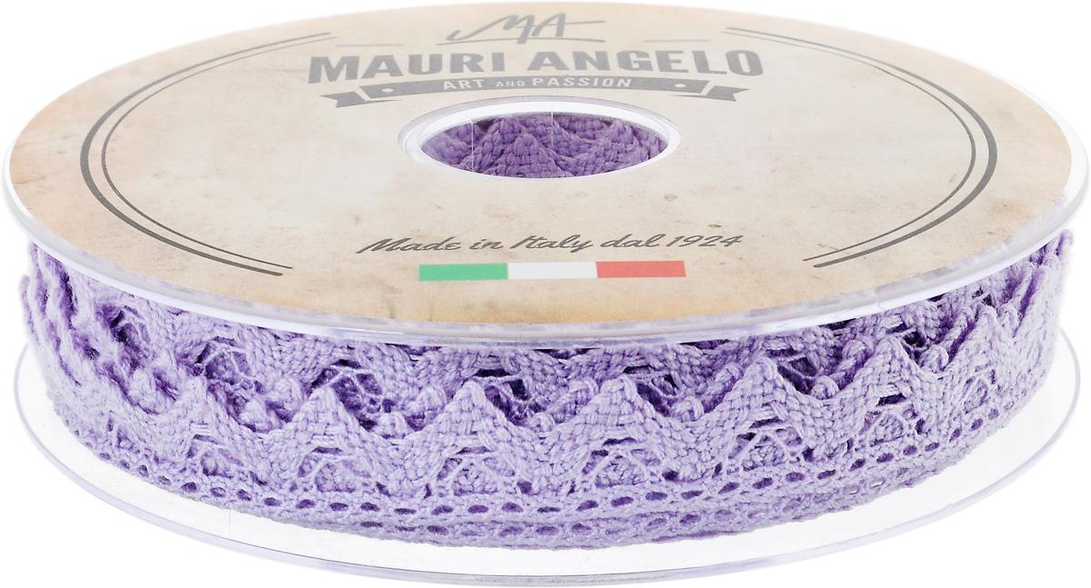 Лента кружевная Mauri Angelo, цвет: сиреневый, 1,8 см х 20 мMR2710/PL/368Декоративная кружевная лента Mauri Angelo выполнена из высококачественного хлопка. Кружево применяется для отделки одежды, постельного белья, а также в оформлении интерьера, декоративных панно, скатертей, тюлей, покрывал. Главные особенности кружева - воздушность, тонкость, эластичность, узорность. Такая лента станет незаменимым элементом в создании рукотворного шедевра.