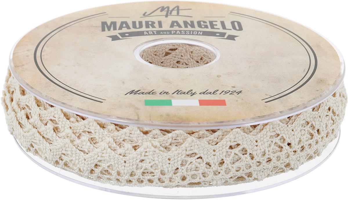 Лента кружевная Mauri Angelo, цвет: бежевый, 1,8 см х 20 м09840-20.000.00Декоративная кружевная лента Mauri Angelo - текстильное изделие без тканой основы, в котором ажурный орнамент и изображения образуются в результате переплетения нитей. Кружево применяется для отделки одежды, белья в виде окаймления или вставок, а также в оформлении интерьера, декоративных панно, скатертей, тюлей, покрывал. Главные особенности кружева - воздушность, тонкость, эластичность, узорность.Декоративная кружевная лента Mauri Angelo станет незаменимым элементом в создании рукотворного шедевра. Ширина: 1,8 см.Длина: 20 м.
