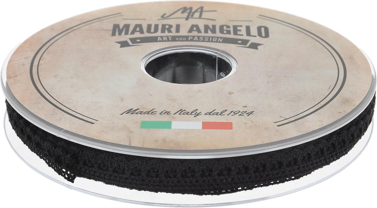 Лента кружевная Mauri Angelo, цвет: черный, 0,9 см х 20 мMR1096/009Декоративная кружевная лента Mauri Angelo выполнена из высококачественного хлопка. Кружево применяется для отделки одежды, постельного белья, а также в оформлении интерьера, декоративных панно, скатертей, тюлей, покрывал. Главные особенности кружева - воздушность, тонкость, эластичность, узорность. Такая лента станет незаменимым элементом в создании рукотворного шедевра.