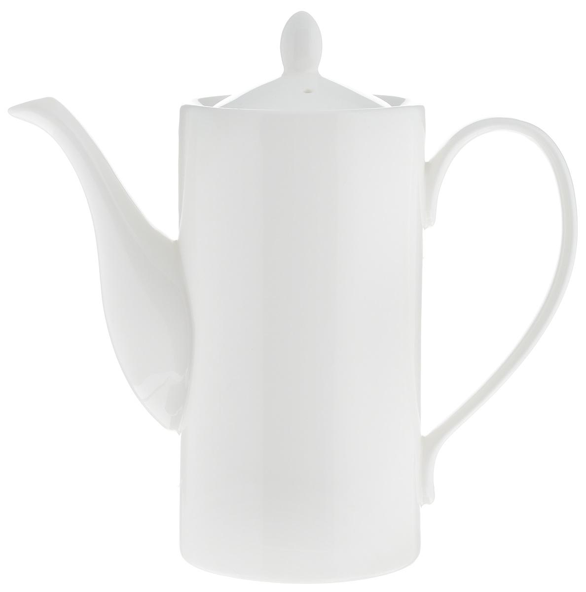Кофейник Wilmax, 650 млWL-994008 / 1CКофейник Wilmax изготовлен из высококачественного фарфора, покрытого двойным слоем глазировки. Отличается особой износостойкостью и устойчивостью к ударам и сколам. А белый с оттенком слоновой кости цвет будет эффектно смотреться на вашем столе. Диаметр кофейника (по верхнему краю): 8 см. Высота чайника (без учета крышки): 15,5 см. Высота чайника (с учетом крышки): 18,5 см.