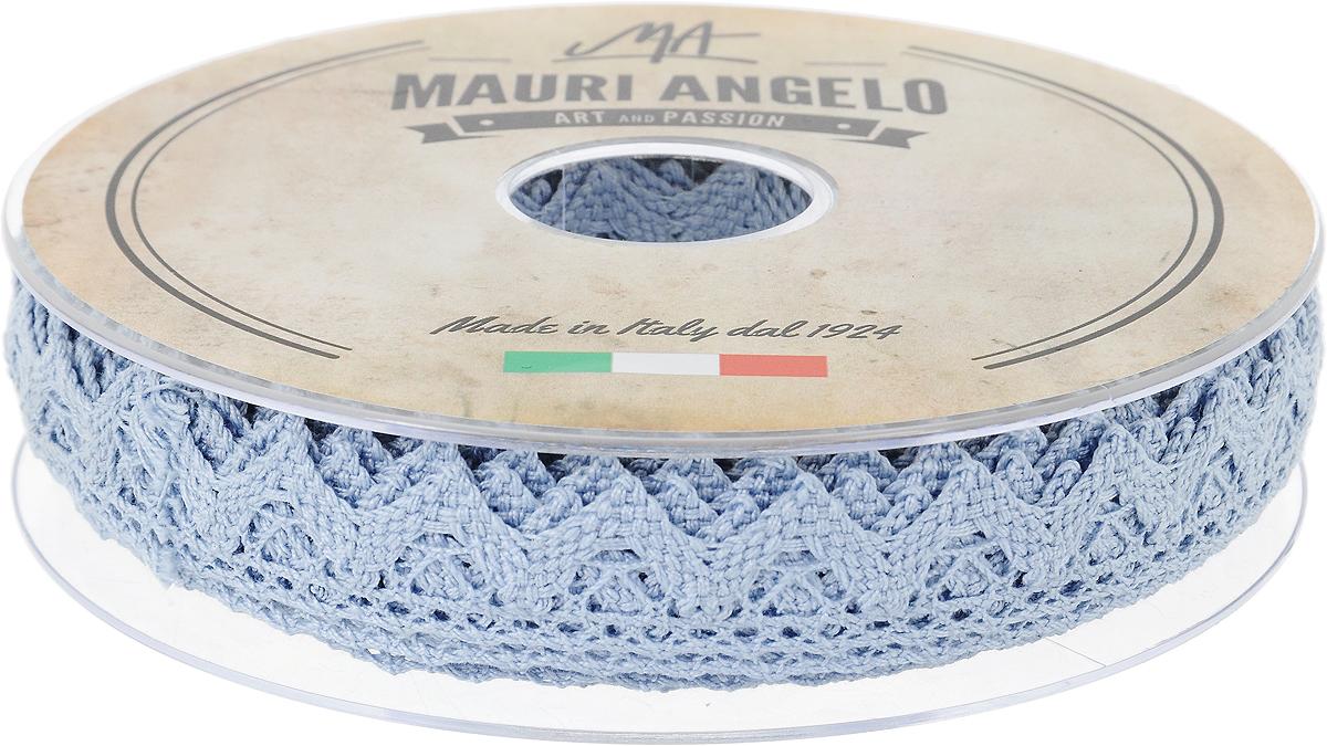 Лента кружевная Mauri Angelo, цвет: голубой, 1,8 см х 20 мMR2710/022_голубойДекоративная кружевная лента Mauri Angelo - текстильное изделие без тканой основы, в котором ажурный орнамент и изображения образуются в результате переплетения нитей. Кружево применяется для отделки одежды, белья в виде окаймления или вставок, а также в оформлении интерьера, декоративных панно, скатертей, тюлей, покрывал. Главные особенности кружева - воздушность, тонкость, эластичность, узорность. Декоративная кружевная лента Mauri Angelo станет незаменимым элементом в создании рукотворного шедевра. Ширина: 1,8 см. Длина: 20 м.