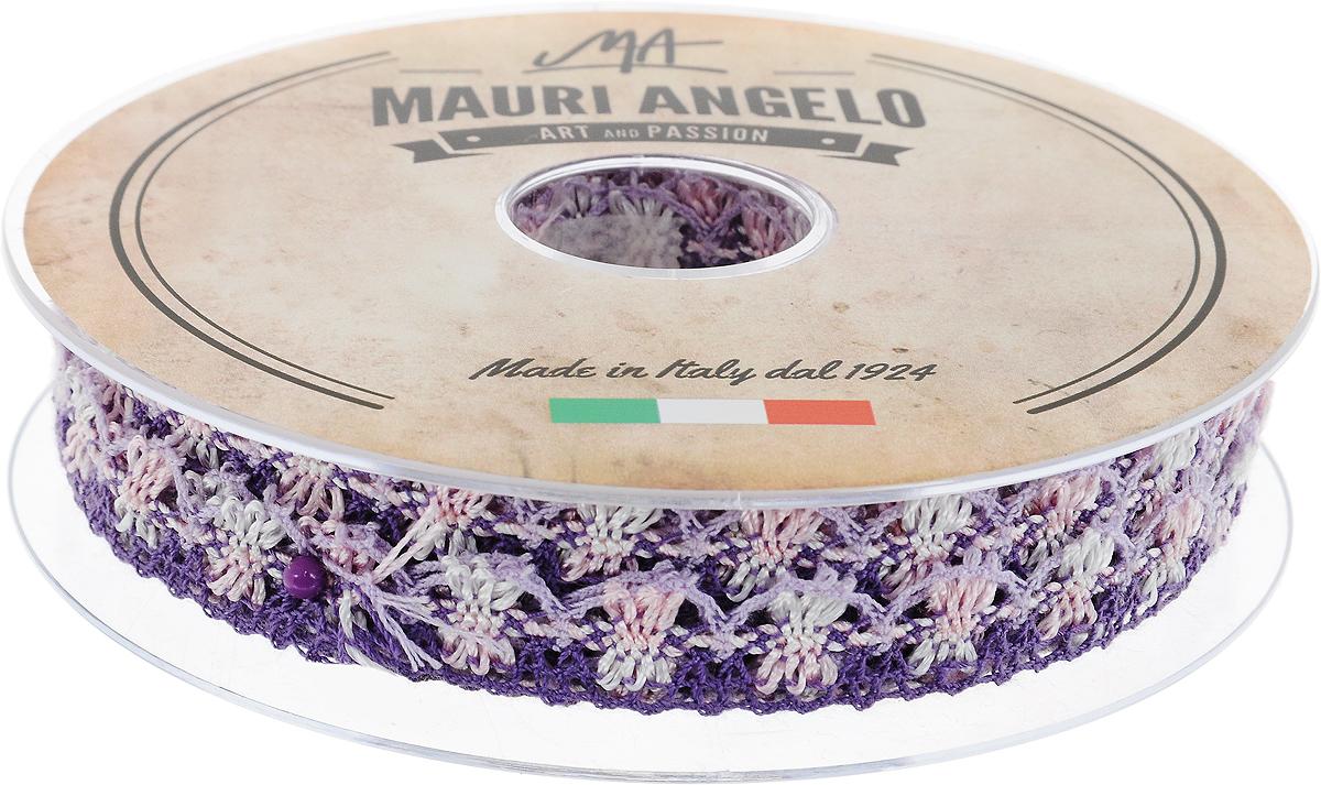 Лента кружевная Mauri Angelo, цвет: фиолетовый, розовый, сиреневый, 1,8 см х 20 м. MR8849/MC/6KOC_GIR288LEDBALL_RДекоративная кружевная лента Mauri Angelo - текстильное изделие без тканой основы, в котором ажурный орнамент и изображения образуются в результате переплетения нитей. Кружево применяется для отделки одежды, белья в виде окаймления или вставок, а также в оформлении интерьера, декоративных панно, скатертей, тюлей, покрывал. Главные особенности кружева - воздушность, тонкость, эластичность, узорность.Декоративная кружевная лента Mauri Angelo станет незаменимым элементом в создании рукотворного шедевра. Ширина: 1,8 см.Длина: 20 м.