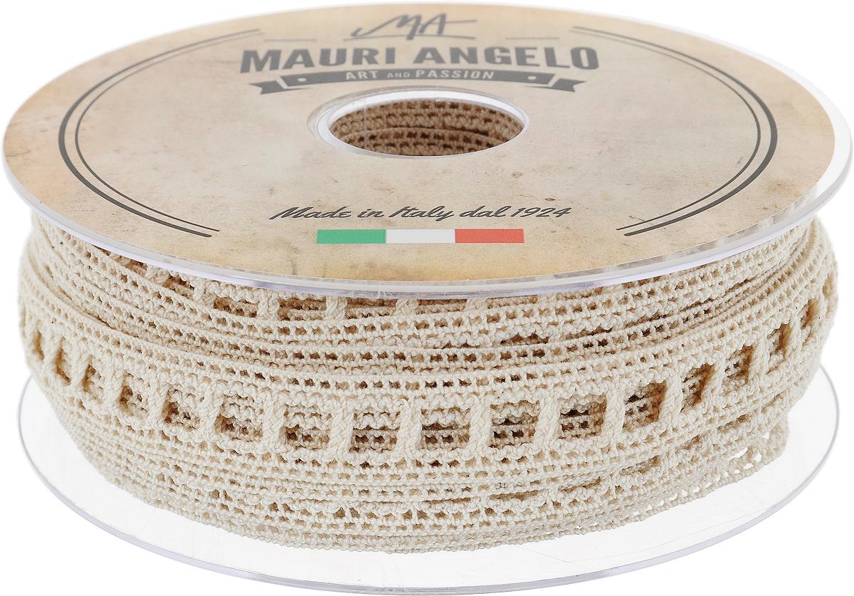 Лента кружевная Mauri Angelo, цвет: бежевый, 1,9 см х 20 мMR2072/E_бежевыйДекоративная кружевная лента Mauri Angelo - текстильное изделие без тканой основы, в котором ажурный орнамент и изображения образуются в результате переплетения нитей. Кружево применяется для отделки одежды, белья в виде окаймления или вставок, а также в оформлении интерьера, декоративных панно, скатертей, тюлей, покрывал. Главные особенности кружева - воздушность, тонкость, эластичность, узорность. Декоративная кружевная лента Mauri Angelo станет незаменимым элементом в создании рукотворного шедевра. Ширина: 1,9 см. Длина: 20 м.