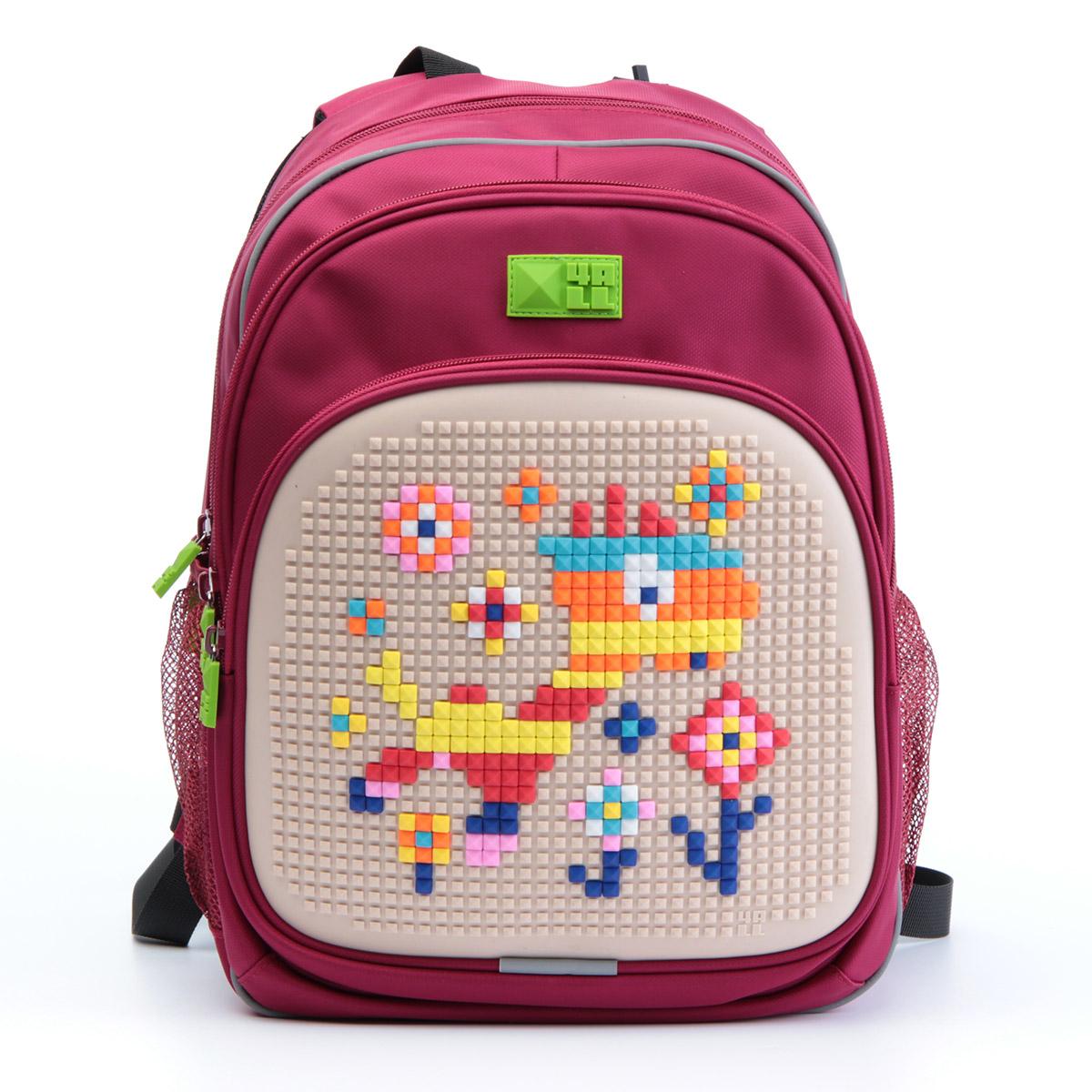 4ALL Рюкзак Kids цвет малиновый72523WDРюкзак 4ALL - это одновременно яркий, функциональный школьный аксессуар и площадка длясамовыражения. Уникальные рюкзаки Kids имеют гипоаллергенную силиконовую панель иразноцветные мозаичные биты, с помощью которых на рюкзаке можно создавать графическиешедевры хоть каждый день!Модель выполнена из полиэстера с водоотталкивающейпропиткой. Рюкзак имеет 2 отделения, снаружи расположены 3 кармана (передний - на молнии,боковые - сетчатые). Система Air Comfort System обеспечивает свободную циркуляцию воздухамежду задней стенкой рюкзака и спиной ребенка. Система Ergo System служит равномерномураспределению нагрузки на спину ребенка, сохранению правильной осанки. Она способна сделатьрюкзак, наполненный учебниками, легким.Ортопедическая спинка как корсет поддерживаетпозвоночник, правильно распределяя нагрузку. Простая и удобная конструкция спины и лямокпозволяет использовать рюкзак даже деткам от 3-х лет.Светоотражающие вставки отвечаютза безопасность ребенка в темное время суток.В комплекте 1 упаковка разноцветныхпикселей-битов и инструкция для создания базовой картинки. Работа с мелкимибитами позволяет дополнительно развивать мелкую моторику рук малыша.