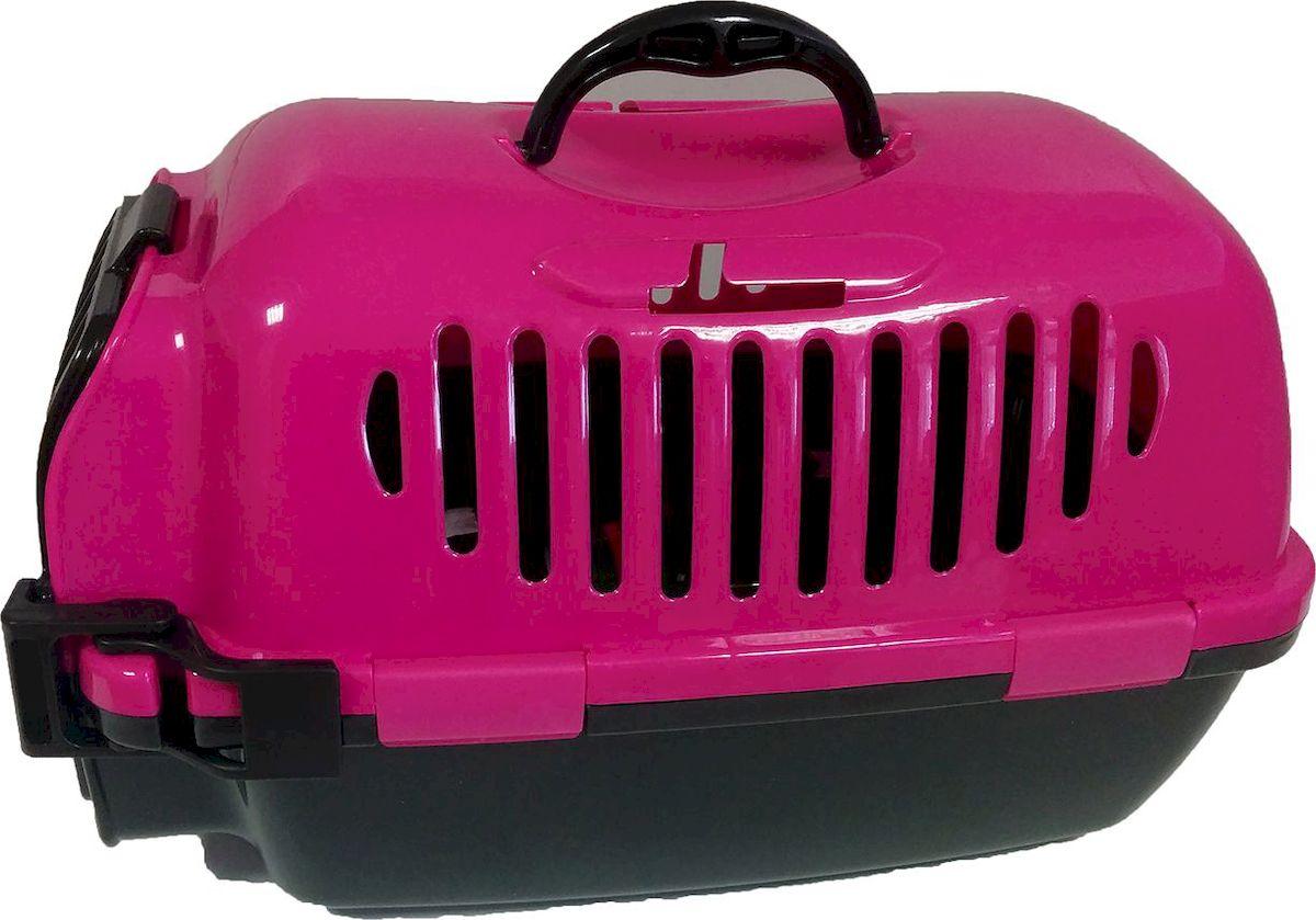 Переноска для кошек ВиСи Клозет, цвет: розовый, 50х29х30 см2244