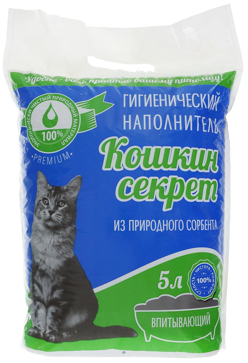 """Наполнитель для кошачьего туалета """"Кошкин секрет"""", впитывающий, 5 л 00000008325"""