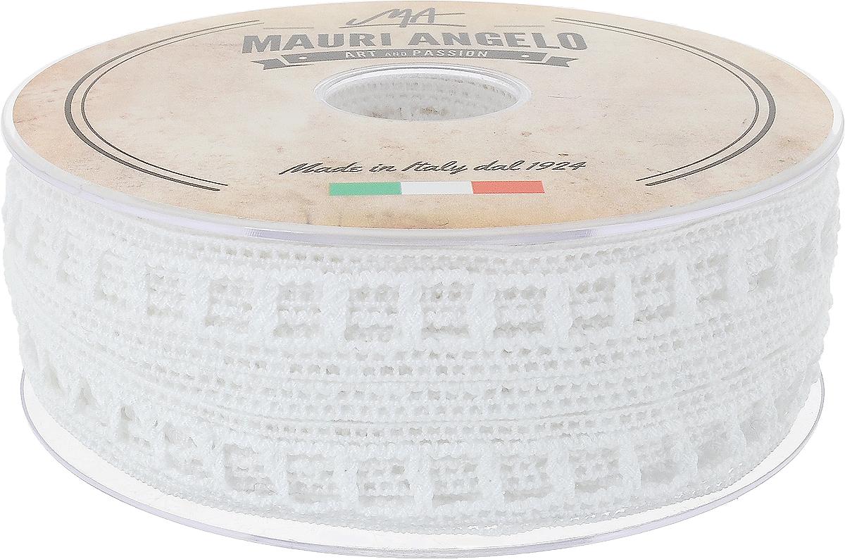 Лента кружевная Mauri Angelo, цвет: белый, 1,9 см х 20 мMR2072_белыйДекоративная кружевная лента Mauri Angelo - текстильное изделие без тканой основы, в котором ажурный орнамент и изображения образуются в результате переплетения нитей. Кружево применяется для отделки одежды, белья в виде окаймления или вставок, а также в оформлении интерьера, декоративных панно, скатертей, тюлей, покрывал. Главные особенности кружева - воздушность, тонкость, эластичность, узорность. Декоративная кружевная лента Mauri Angelo станет незаменимым элементом в создании рукотворного шедевра. Ширина: 1,9 см. Длина: 20 м.