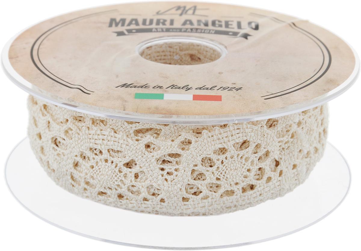Лента кружевная Mauri Angelo, цвет: бежевый, 3 см х 10 мMR3321/E_бежевыйДекоративная кружевная лента Mauri Angelo - текстильное изделие без тканой основы, в котором ажурный орнамент и изображения образуются в результате переплетения нитей. Кружево применяется для отделки одежды, белья в виде окаймления или вставок, а также в оформлении интерьера, декоративных панно, скатертей, тюлей, покрывал. Главные особенности кружева - воздушность, тонкость, эластичность, узорность. Декоративная кружевная лента Mauri Angelo станет незаменимым элементом в создании рукотворного шедевра. Ширина: 3 см. Длина: 10 м.