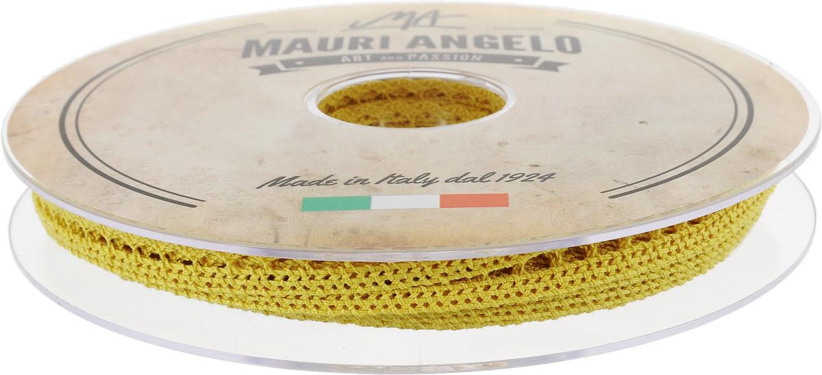 Лента кружевная Mauri Angelo, цвет: желтый, 0,9 см х 20 мMR1096/029_желтыйДекоративная кружевная лента Mauri Angelo - текстильное изделие без тканой основы, в котором ажурный орнамент и изображения образуются в результате переплетения нитей. Кружево применяется для отделки одежды, белья в виде окаймления или вставок, а также в оформлении интерьера, декоративных панно, скатертей, тюлей, покрывал. Главные особенности кружева - воздушность, тонкость, эластичность, узорность. Декоративная кружевная лента Mauri Angelo станет незаменимым элементом в создании рукотворного шедевра. Ширина: 0,9 см. Длина: 20 м.