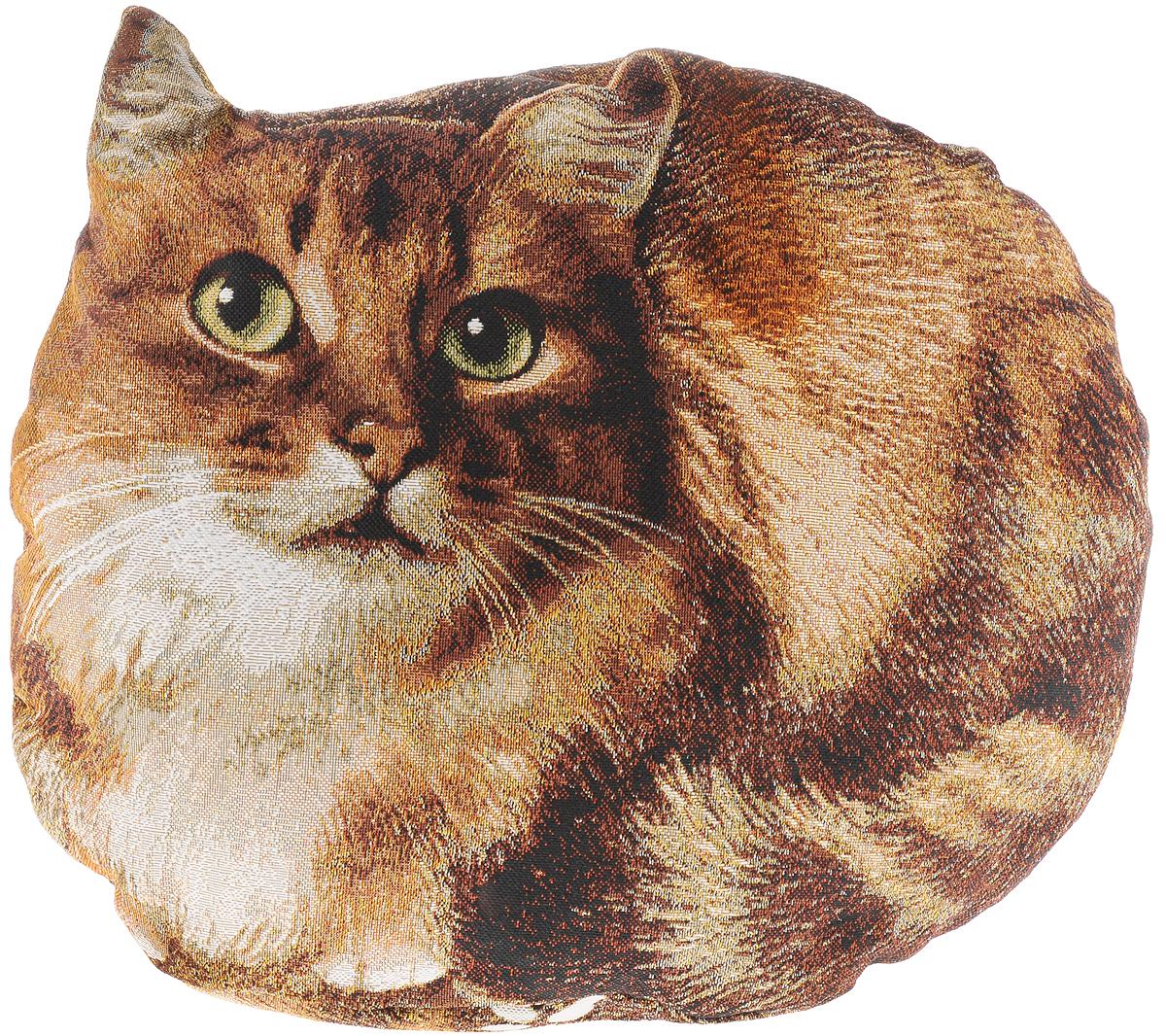 Подушка декоративная Рапира Пушок, 40 х 30 см4636Декоративная подушка Рапира Пушок прекрасно дополнит интерьер спальни или гостиной. Она выполнена в форме кошки. Чехол подушки изготовлен с гобеленовой фотопечатью из 50% хлопка и 50% полиэфира. Внутри - мягкий наполнитель из холлофайбера. Чехол не снимается. Красивая подушка создаст атмосферу уюта и комфорта в спальне и станет прекрасным элементом декора.