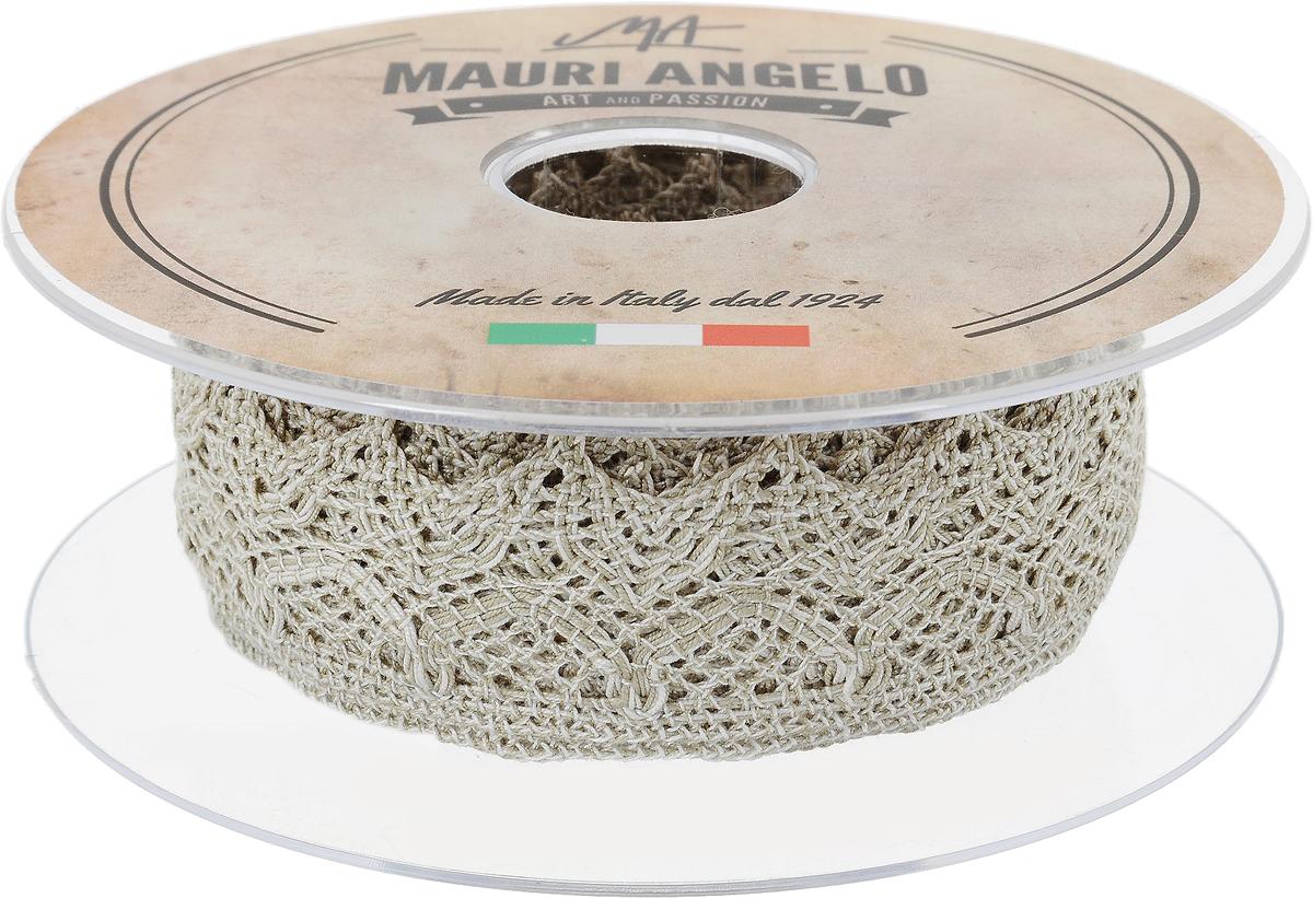 Лента кружевная Mauri Angelo, цвет: серый, белый, 3,7 см х 10 мMR3325/LI_серый, белыйДекоративная кружевная лента Mauri Angelo - текстильное изделие без тканой основы, в котором ажурный орнамент и изображения образуются в результате переплетения нитей. Кружево применяется для отделки одежды, белья в виде окаймления или вставок, а также в оформлении интерьера, декоративных панно, скатертей, тюлей, покрывал. Главные особенности кружева - воздушность, тонкость, эластичность, узорность. Декоративная кружевная лента Mauri Angelo станет незаменимым элементом в создании рукотворного шедевра. Ширина: 3,7 см. Длина: 10 м.